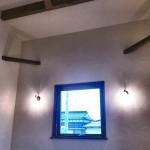 高い勾配天井のリビング